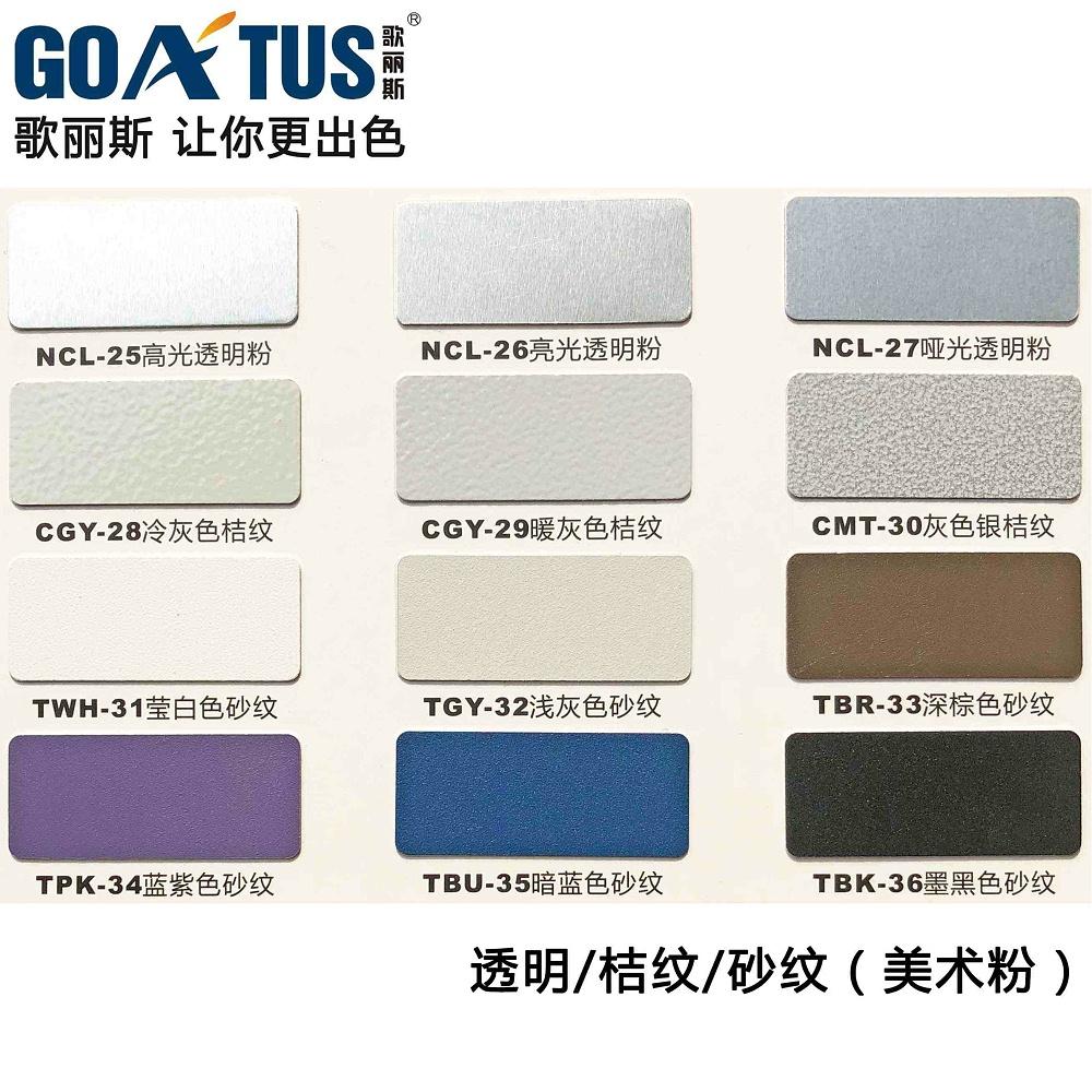歌丽斯-透明粉、桔纹粉、砂纹粉